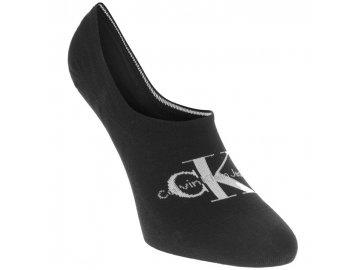 Nízké ponožky Calvin Klein Mono Logo Černé