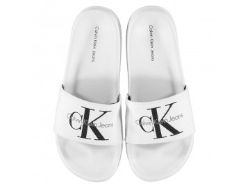 Dámské pantofle Calvin Klein Chantal Bílé