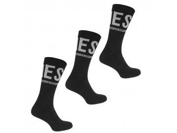 Ponožky Diesel Ray 3 páry v balení Černé