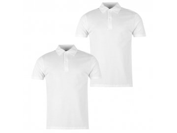 Pánská trika Donnay Polo 2 v balení Bílé