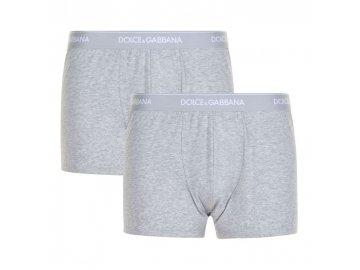 Pánské boxerky Dolce & Gabbana 2 v balení Šedé