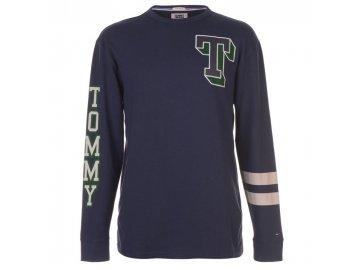 Pánská mikina Tommy Hilfiger Jeans Varsity LS Black Iris
