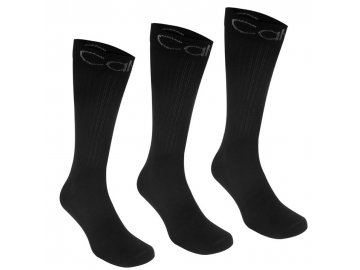Pánské ponožky Calvin Klein 3 v balení Puck Černé