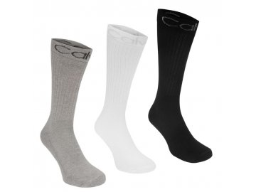 Pánské ponožky Calvin Klein 3 v balení Puck Multi