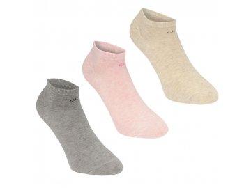 Dámské kotníkové ponožky Calvin Klein Logo 3 v balení Multi