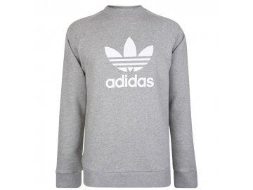 Mikina adidas Originals Trefoil Sweatshirt Šedá