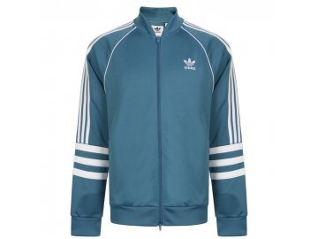 Mikina adidas Originals Authentic Zip Modrá