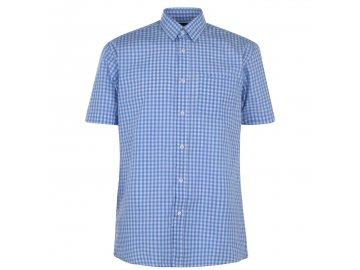 Pánská košile Pierre Cardin s krátkým rukávem Blue Check