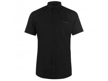 Pánská košile Pierre Cardin s krátkým rukávem Plain Black