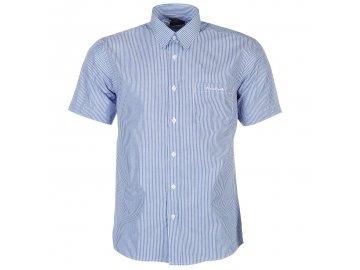 Pánská košile Pierre Cardin s krátkým rukávem Blue/Wht Stripe