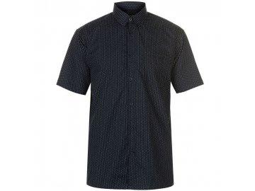 Pánská košile Pierre Cardin s krátkým rukávem Navy/Wht Spot