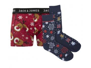 Dárkový vánoční set boxerky a ponožky Jack and Jones