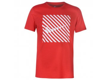 Pánské triko Nike Striped QT Červené