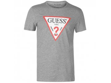 Pánské triko Guess Logo Original Šedé