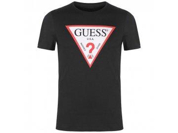 Pánské triko Guess Logo Original Černé