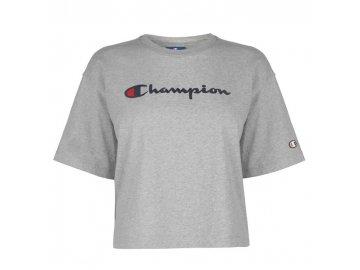 Dámské triko Champion Cropped Oversized Šedé
