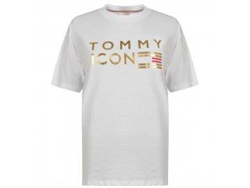 Dámské triko Tommy Hilfiger Icon Nellie Bílé