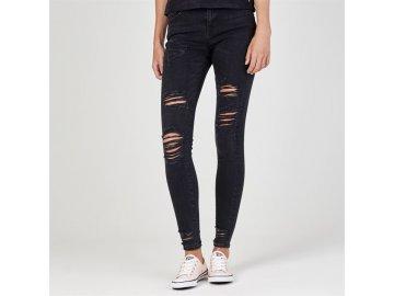 Dámské džíny Firetrap Blackseal Destoyed Skinny Černé