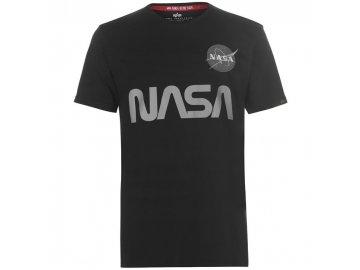 Pánské triko Alpha Industries NASA Reflective Černé