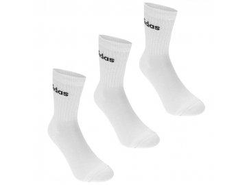 Ponožky adidas Crew 3ks Bílé