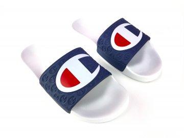 Pánské pantofle Champion Logo Bílé