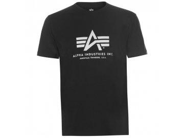 Pánské triko Alpha Industries Basic Černé