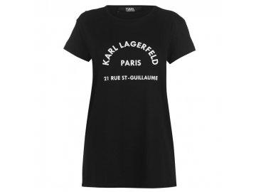Dámské triko Karl Lagerfeld Address Černé