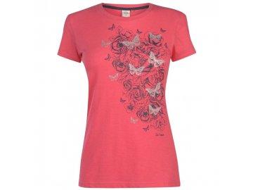 Dámské triko Lee Cooper Classic Růžové