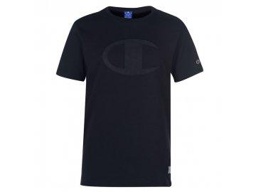 Pánské triko Champion Large Logo Černé