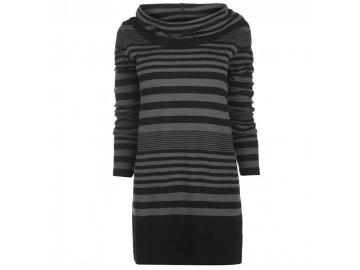 Dámské šaty svetr Lee Cooper Essential Cowl Knit Černý