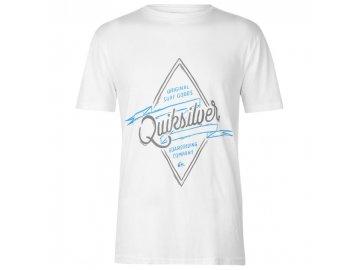 Pánské triko Quiksilver Midnight Co Bílé