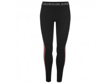 Dámské legíny Calvin Klein Jeans Stripe Černé