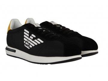 Pánské boty Emporio Armani Eagle Černé
