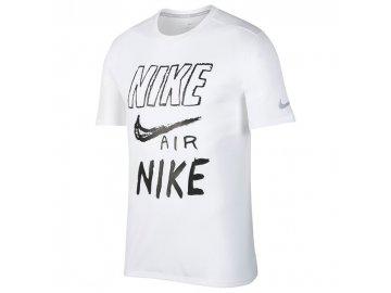 Pánské triko Nike Run Breathe Bílé