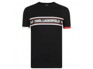 Pánské triko Karl Lagerfeld Tape T Černé
