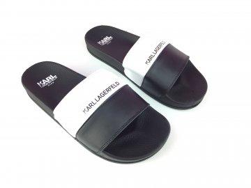 Dámské pantofle Karl Lagerfeld Uni Logo Černé