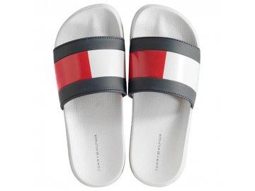 Dámské pantofle Tommy Hilfiger Flag Pool Bílé