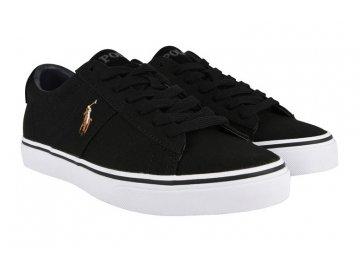 Pánské boty Polo Ralph Lauren Canvas Černé