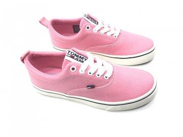 Dámské boty Tommy Hilfiger Classic Trainers Růžové