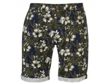 Pánské šortky SoulCal All Over Print Chino Aqua Floral