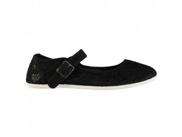 Dámské boty Slazenger Canvas Mary Jane Černé