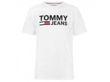 Pánské triko Tommy Hilfiger Corp Logo Bílé
