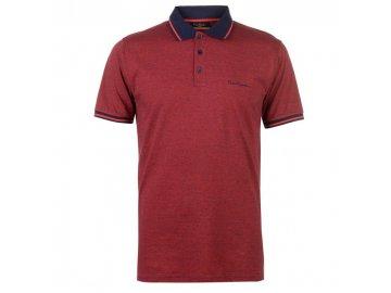 Pánské triko Pierre Cardin Pin Stripe Polo Červené