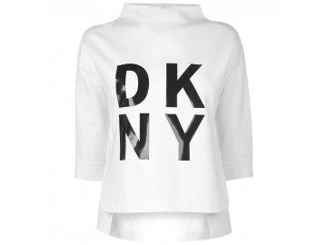 Dámské triko DKNY Sport Pop Over Bílé