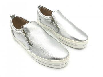 Dámské boty Lee Cooper Slip On Zip Stříbrné