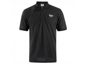 Pánské triko Lee Cooper Polo Černé