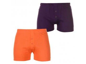 Boxerky Slazenger 2 v balení Purple/Orange