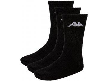 Ponožky Kappa Crew 3 v balení Černé
