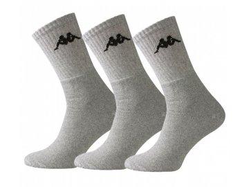 Ponožky Kappa Crew 3 v balení Šedé
