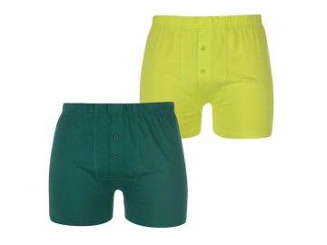 Boxerky Lonsdale 2 v balení Green/Lime